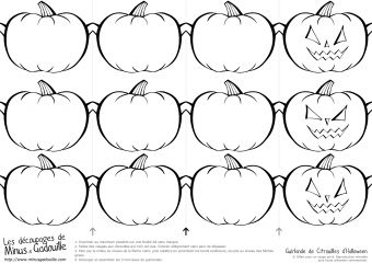 Découpages Halloween Pumpkins Banner Guirlande de citrouilles d'halloween