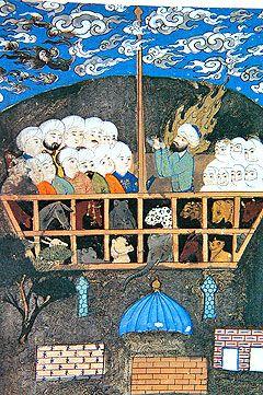 Noah's Ark. Islamic miniature