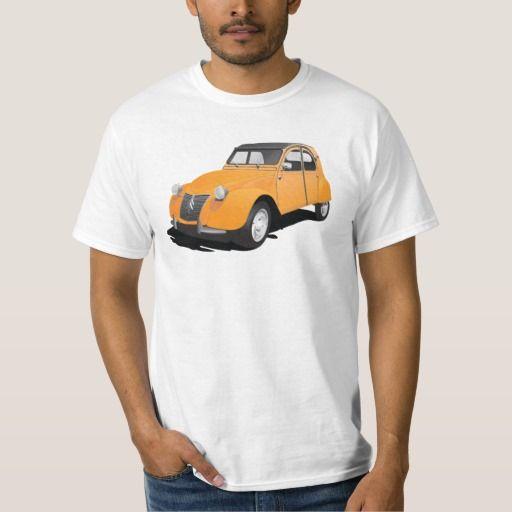Citroën 2CV (deux chevaux), orange  #citroen2cv #citroen #automobile #classic #car #tshirt #