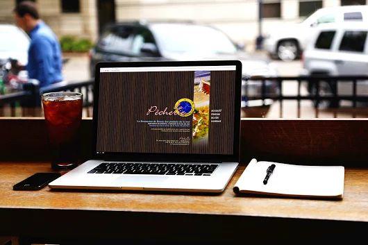 Création du site internet du restaurant de produits de la mer La Pêcherie, à Rouen.
