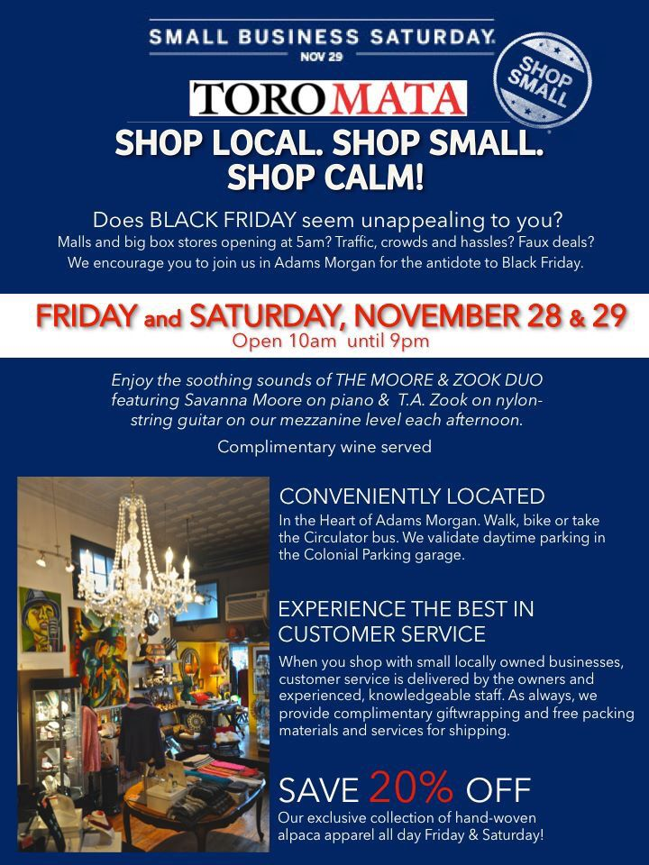 Shop Local. Shop Small. Shop Calm!