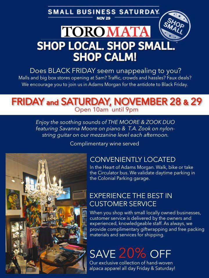 Shop Local. Shop Small. Shop Calm!