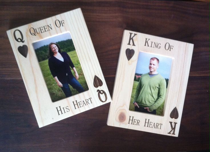 on sale laser engraved picture frame king of her heart queen of his heart