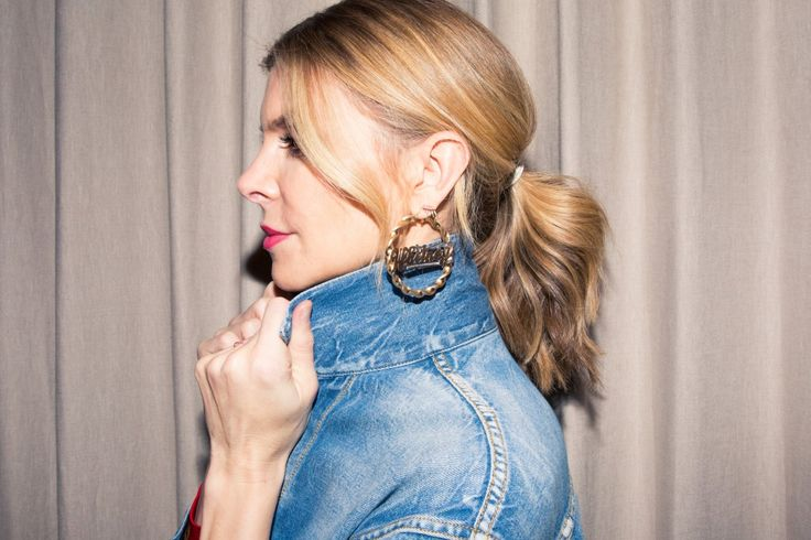 Inside Finery Founder Whitney Casey's Closet: When someone has as much energy and personality as Casey does, they usually have a wardrobe to match, which was exactly the case when we finally dug into the goods in her bedroom-sized-by-NYC-standards closet. -- personalized hoops  |  coveteur.com