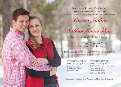 Lauren Durnford Front · Simple Wedding InvitationsUtah