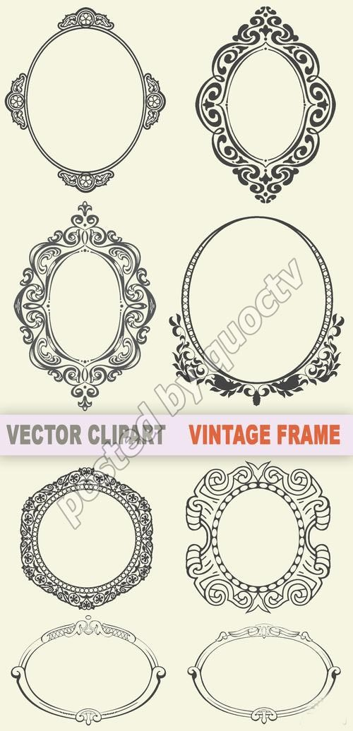 vintage frames- overlay for simple invitations???