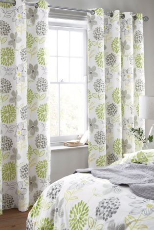 Buy Bold Floral Blackout Eyelet Curtains online today at Next: Belgium