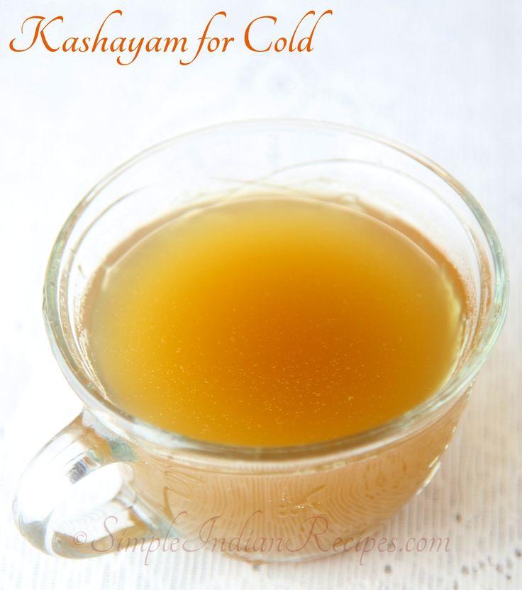 Home Remedy for Common Cold: Recipe @ http://simpleindianrecipes.com/Home/Kashayam.aspx