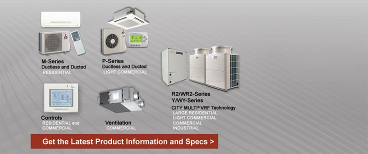 Mitsubishi Electric US, Inc. Cooling & Heating | HVAC  Why mini-splits? Efficiency (up to 26 SEER) Variable Refrigerant Flow Versatility No Ducts!  http://www.mitsubishipro.com/
