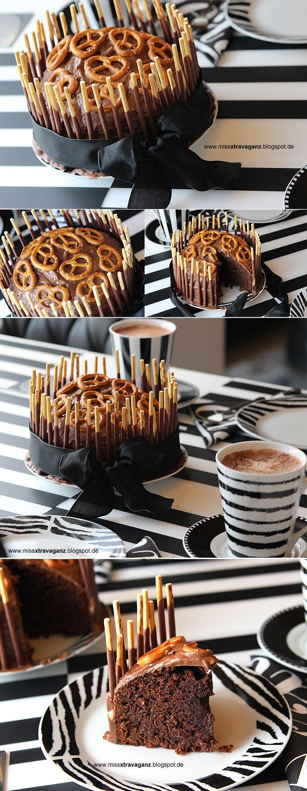 ! Miss von Xtravaganz !: [Rezept] Schokoladen-Haselnuss-Brezel-Kuchen