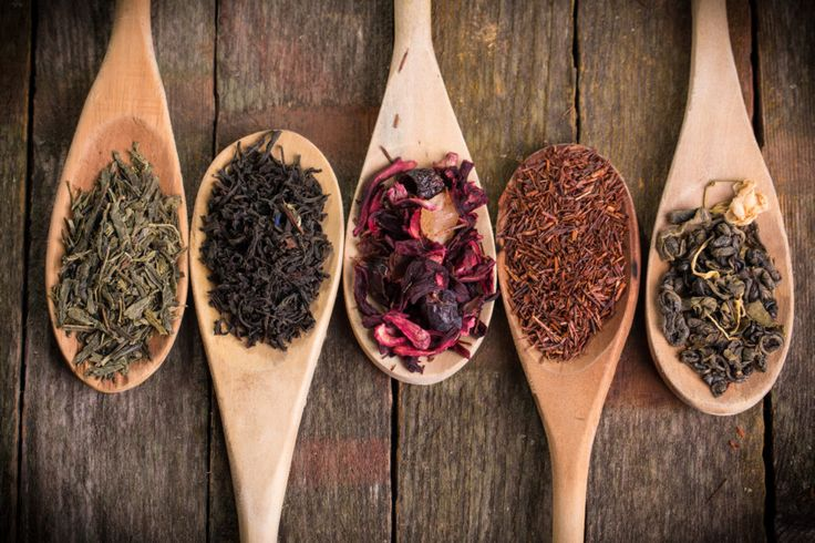 assortment of dry tea the healthy benefits of tea and different types