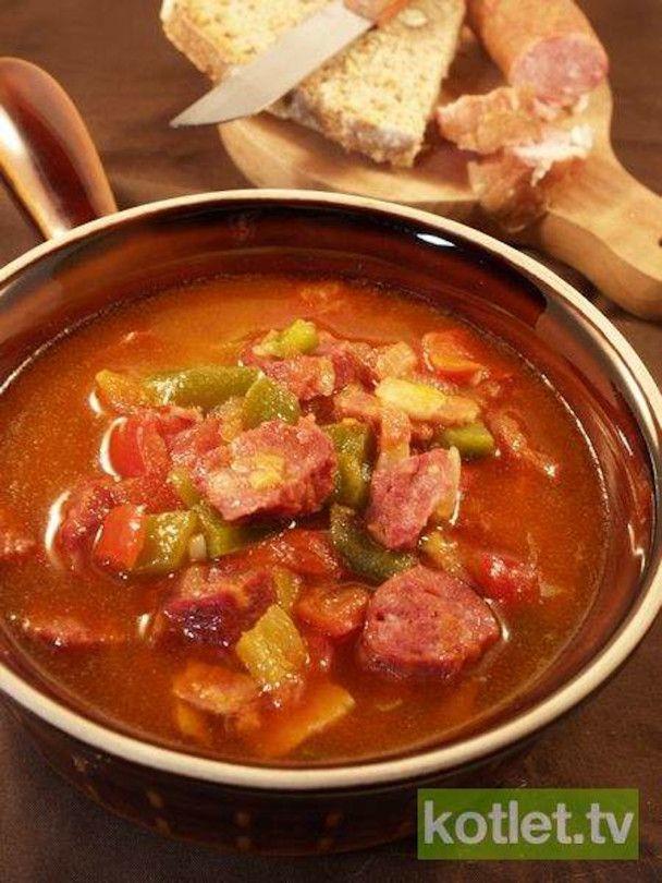 Leczo z kiełbasą - polish leczo recipe with sausage