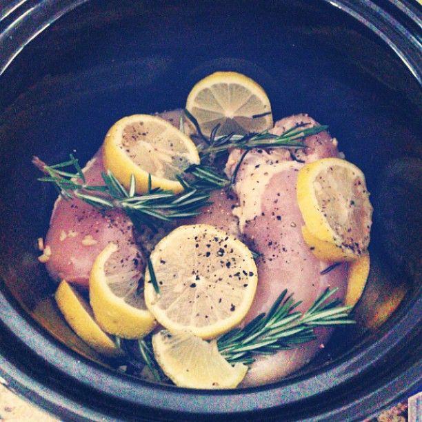 Lemon Rosemary Crock pot Chicken