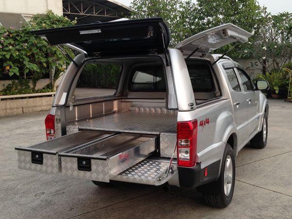 VW Amarok Low Chequer Plate Tray Bins | Work Truck ...