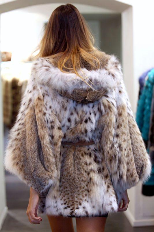 lynx fur hoody