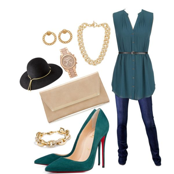 Chic in Green & Gold ;)