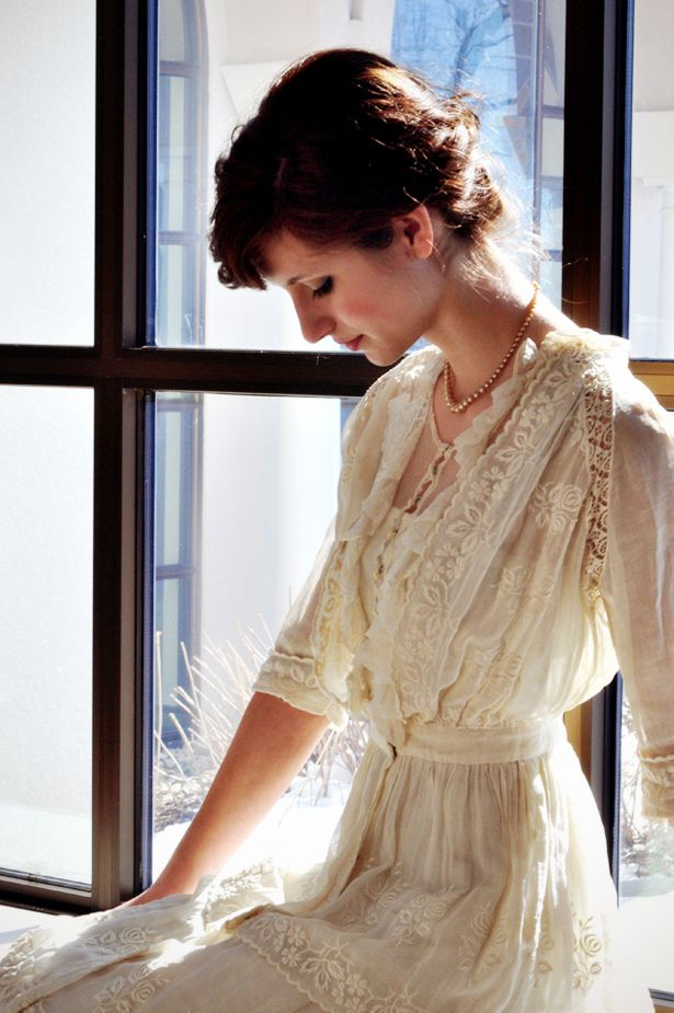 Lace Edwardian inspired dress