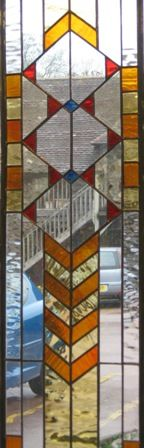 HILL STAINED GLASS - Interior door panel