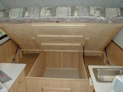 Interior storage modification on Aliner