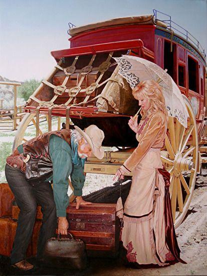 A PICKY TRAVELER by ED COPLEY  ~ 32'' x 24''
