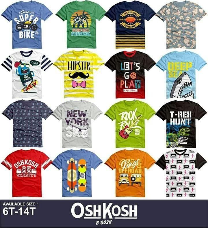 Open PO oshkosh junior boy fullprint