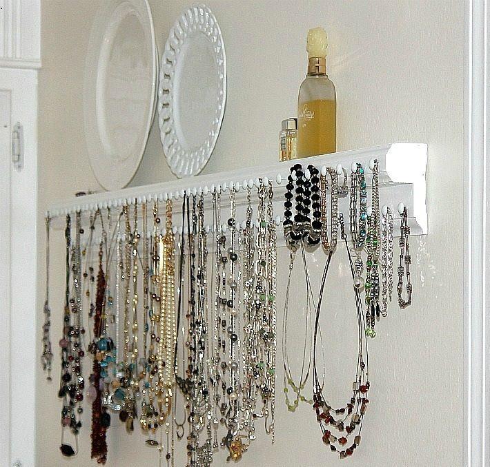 Como hacer un porta collares casero buscar con google - Para colgar collares ...