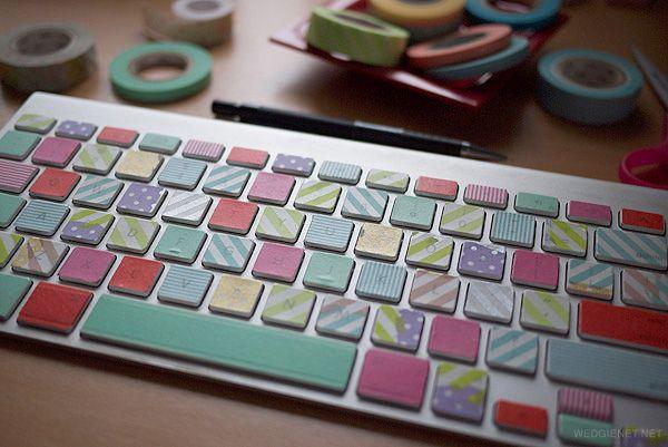 DIY: washi-taped keyboard