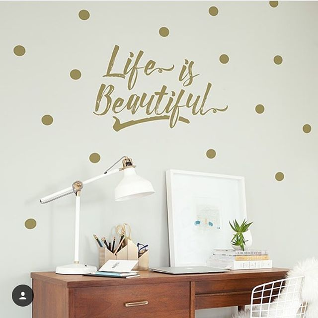 Bon Metallic Gold Wall Decals Are The Bomb, And So Easy To