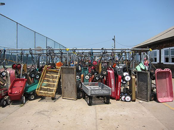 Ocean Beach, Fire Island: Home of the red wagons.