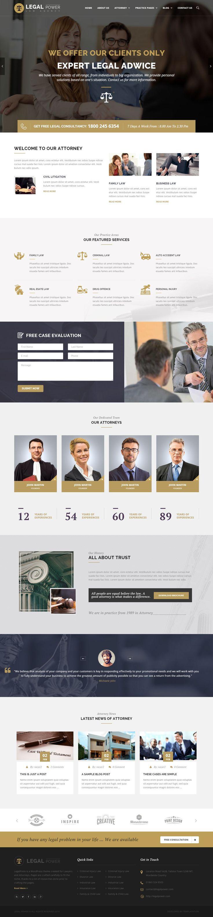 Legal Power - Lawyer Attorney WordPress Theme