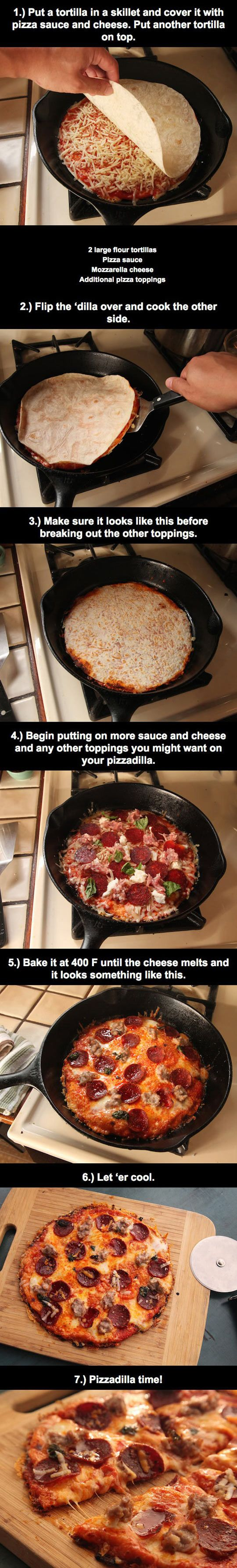 Low carb pizza. Use low carb tortilla.