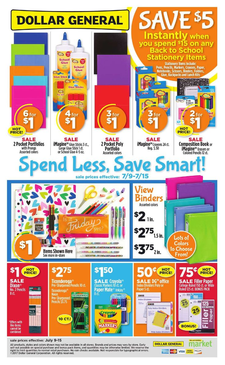 Dollar General Saving Guide July 9 - 15 , 2017 - http://www.olcatalog.com/grocery/dollar-general-ad.html