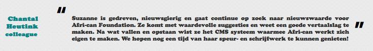 Chantal Heutink over mijn werk voor de stichting