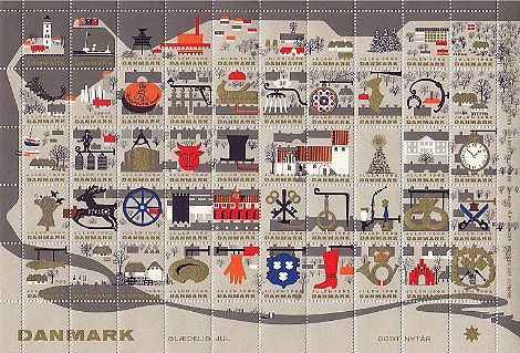 Denmark Christmas Seals 1962 | Art and design inspiration from around the world - CreativeRootsArt and design inspiration from around the world – CreativeRoots