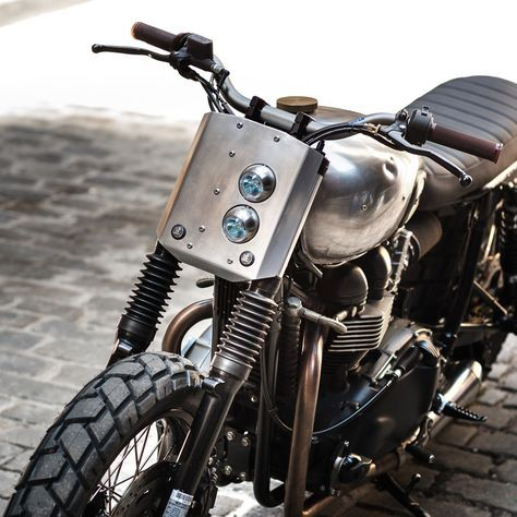 pinterest.com/fra411 #classic #motorbike - Raw metal 2007 Bonnie