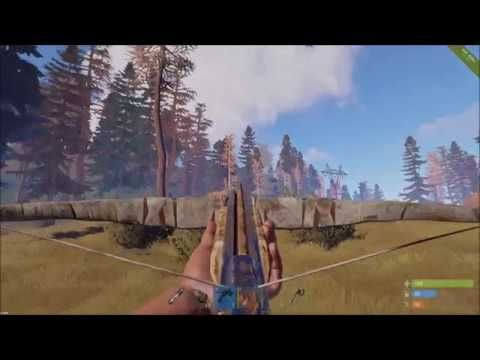 The Crossbow Sniper: Extremely long range crossbow shots in Rust!!