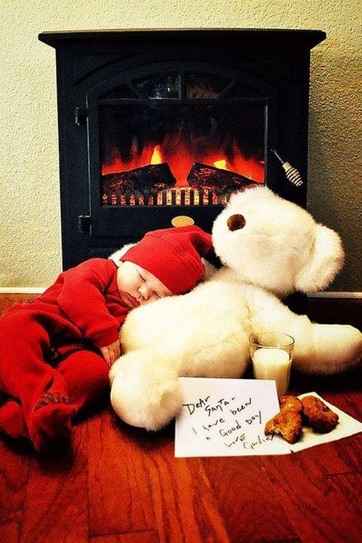 Des photos trop mignonnes du premier Noël des bébés