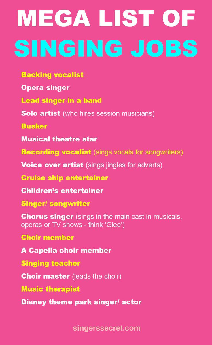 There are more ways to work as a singer than you think. Here are a few. Get more free singing tips from www.singerssecret.com. #singingtips #howtosing #singing