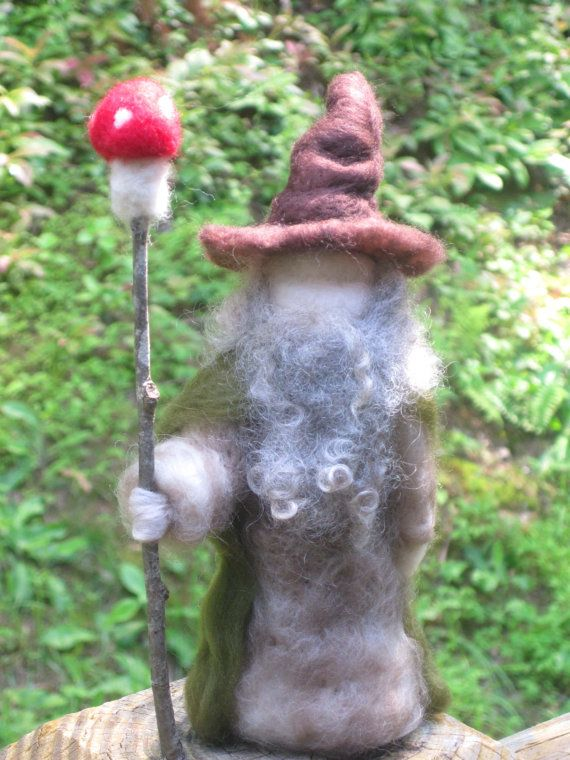 The Hobbit: An Unexpected Journey    WALDORF Felted Woodland Wizard Gandalf wool by WillowwoodCottage, $45.00