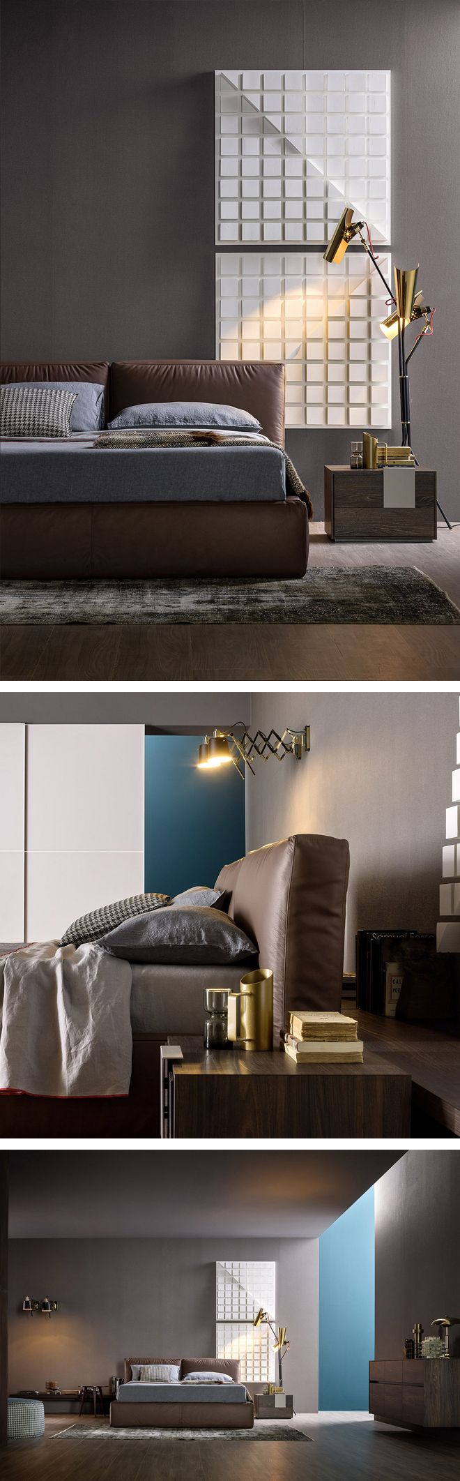 Das Novamobili Polsterbett Brick mit Bettkasten ist besonders bequem. #Bett #bed #Schlafzimmer #bedroom #Einrichtungsideen #inspiration #interiordesign #interiordecorating #home #wohnen #einrichten #modern #minimalistisch #Livarea #wohntrend #Trend #Novamobili #Designmöbel #Designbett #Polsterbett