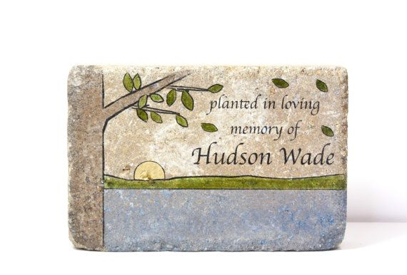 Memorial Stone. PERSONALIZED Memorial Gift. 6x9 Tumbled