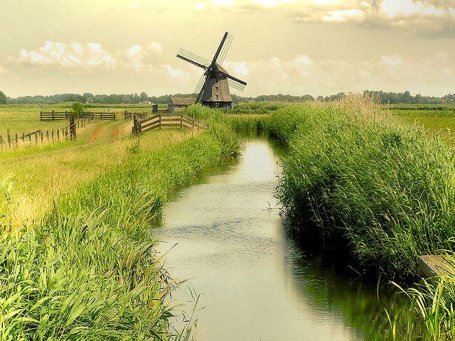 netherlands--windmills everywhere- beautiful sight to see