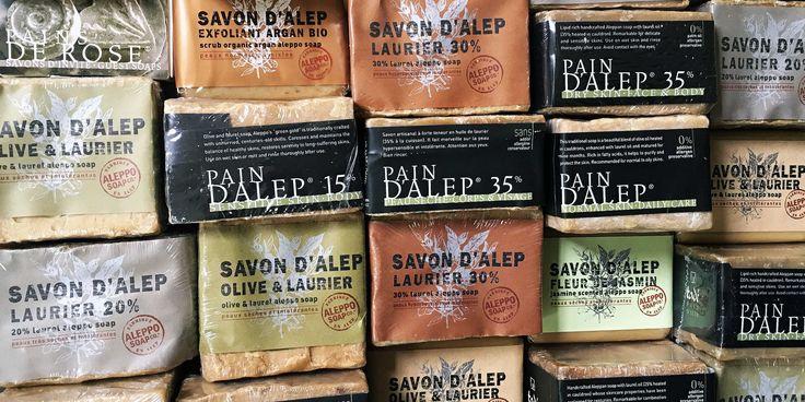 Een geweldige collectie Aleppo zepen van Tadé, Marius Fabre & Aleppo Soap Co