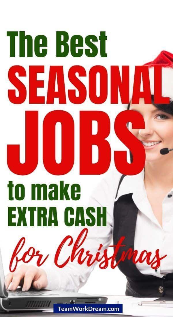 Best Winter Seasonal Jobs To Earn Extra Holiday Cash Seasonal Jobs Making Extra Cash Job In 2020 Seasonal Jobs Making Extra Cash Extra Cash