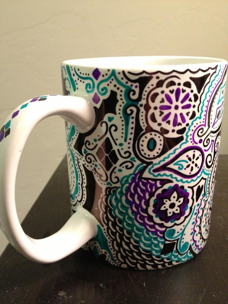 Sharpie Decorated Mug Mugs Pinterest Mugs
