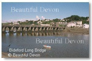 Pastel coloured town alongside the River Torridge in North Devon