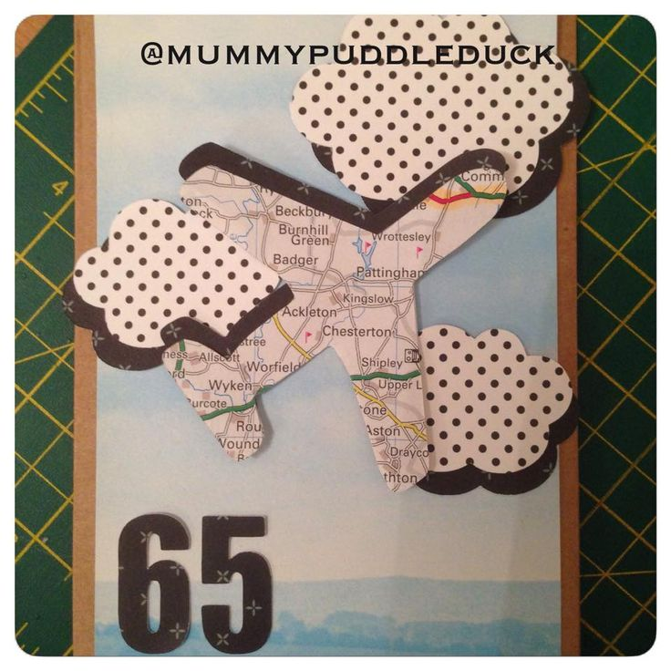 #Handmade #plane #map #travel #card for Mummypuddleduck #MakeitMay project which brings a new card design every day and where 10% of all sales throughout may are #donated to #ParkinsonsUK #Cricut