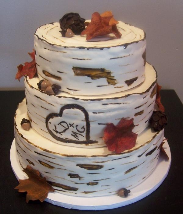 Birch Tree Cake: Birches Bark, Birches Trees Cakes, Trees Weddings Cakes, Birches Trees Weddings, Fall Cakes, Anniversaries Cakes, Cakes Idea, Unique Weddings, Crazy Cakes