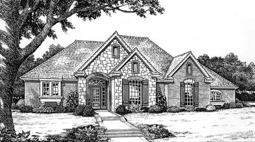 English-Country Style House Plan