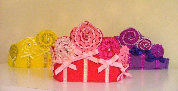 Felt fancy crowns: Fancy Crowns, Dreams Nutcrackers Sugar Plum, Christmas Fun, Etsy, Colors, Candyland Christmas, Lollipop Crowns, Candyland Party, Christmas Party